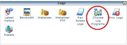 cpanel choose log programs
